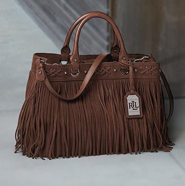 Brown Medium Barton Suede Tote